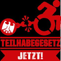 Logo zur Kampagne Teilhabegesetz jetzt! Bitte hier klicken zur Unterstützung der Kampagne.