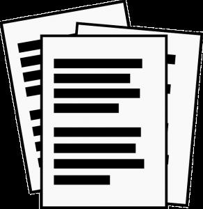 Bild Berichte (© pixabay): Zeigt drei Seiten mit Text.