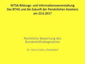 Titelbild Vortrag Dr. Harry Fuchs
